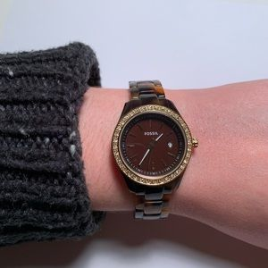 Fossil Tortoise Acetate Watch